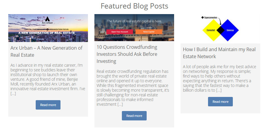 Featured blog posts