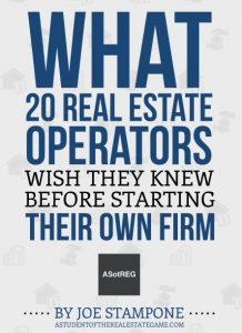 What 20 RE Operators Wish They Knew