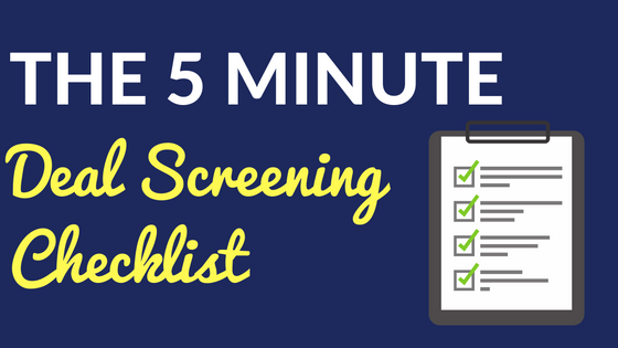 The 5 Minute Deal Screening Checklist