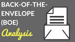 back-of-the-envelope analysis real estate