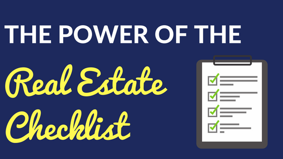 The Power of the Real Estate Checklist