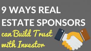 Build trust with investors