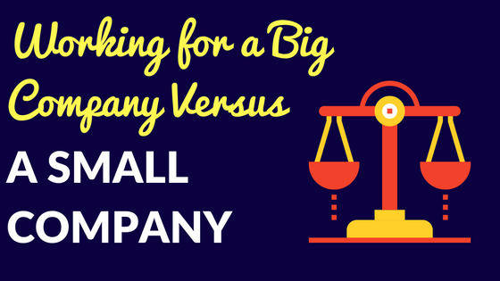 working for a big company versus a small real estate company